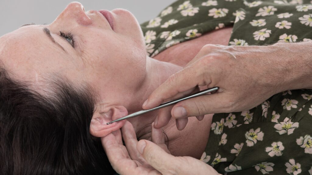 Ohrreflexzonenmassage